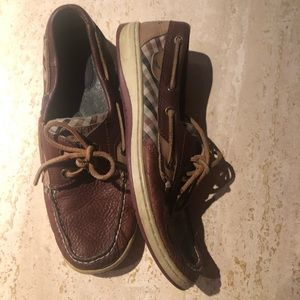 sperry top sider Oxblood Plaid Deck Boat Flat shoe
